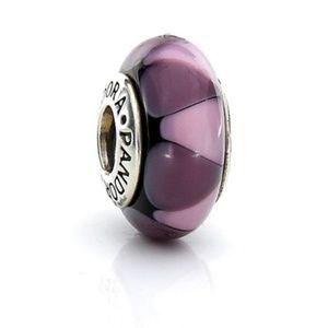 Pandora Charm | Purple & Pink Murano Glass Bead